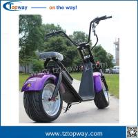 Wholesale Harley type/fat tire electrical scooter city coco with big wheels COC Certificate from china suppliers