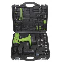 Wholesale Portable Battery Charge Screwdriver Tools Kit Cordless Drill Sets with Metal Box Packaging from china suppliers