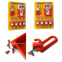 Buy cheap Insulation Wall mounted  4-Lock Lockout Station 23cm(W)*33cm(H)*0.5cm(T)OSHA Standard from wholesalers