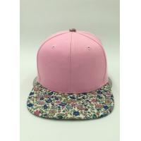 Wholesale Ladies Casual Floral Snapback Hats Printed Cotton Polyester For Decoration from china suppliers