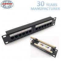 Wholesale 1U 10'' Inch 12 Port CAT6 UTP Rack Mount Patch Panel 110 IDC Type from china suppliers