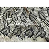 Wholesale Leaf Shape Black Polyester Water Soluble Lace Fabirc 50 Inch For Textile from china suppliers