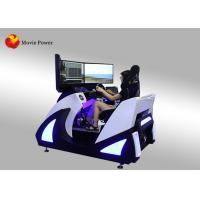 Wholesale 3 Folding Screen Virtual Reality Simulator F1 Car Racing 9D VR Electric Dynamic Platform VR Driving Game Machine from china suppliers