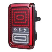 Wholesale Back Up LED Tail Lights Shock Resistant Clear PC Cover Durable Black ABS Housing from china suppliers