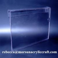 Wholesale Hanging A4 Plexiglass Ticket Holder PMMA Poster Holder Clear Acrylic Price Holder from china suppliers
