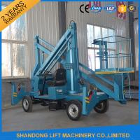 Wholesale Commercial Hydraulic Articulated Trailer Boom Lift Rental , 8m Rotating Truck Mounted Aerial Lift from china suppliers