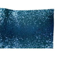 Wholesale Light Blue Glitter Wallpaper Fabric , PU Fabric Backing Glitter Sparkle Fabric from china suppliers