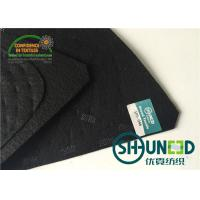 Quality Black Men Garment Shoulder Padding With Polyester / Cotton / Glue for sale
