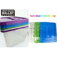 Wholesale 40L Rectangle PP Plastic Ballot Box Acrylic Vote Box With Lock 100% Polypropylene Material from china suppliers