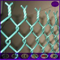 Wholesale China chain link fencing 50*50mm ,6 gauge plastic coating sports ground fence price from china suppliers