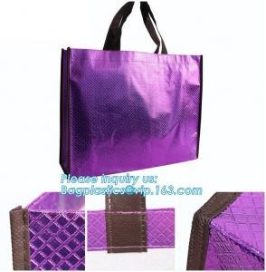 Shopping printing fabric insulated foldable bag, custom pp non woven bag tote bag, Wholesale Clothe Storage Non Woven Ba