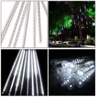 Wholesale 5W 30CM 8 Tubes 144LEDs Rainproof RGB LED String Lights Indoor Christmas decoration with US EU plug from china suppliers