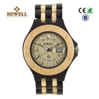 Wholesale Luxury Hand Crafted Wooden Wrist Watch For Groomsmen , Ebony Maple from china suppliers
