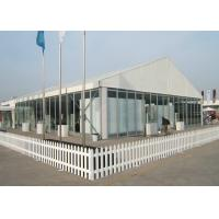 Wholesale Glass Wall Carton Fair Trade Show Tents 15M X 35M White Roof Cover 5 Years Guarantee from china suppliers