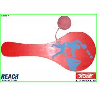 Wholesale Custom Promotional Beach Paddle Rackets / Paddle Ball Racket 4 CMYK Printing from china suppliers