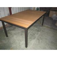 Wholesale CA1122T3 polywood rectangular dining table top design outdoor furniture from china suppliers