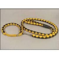 Wholesale Yellow black braided polyester rope Soft PU dog leash for big dogs from china suppliers