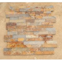 Wholesale Rusty Slate 3D Ledgestone Multicolor Slate Fireplace Stone Cladding Natural Thin Stone Veneer from china suppliers