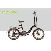 Wholesale Black 10.4Ah Electric Folding Cruiser Bicycle 36V 20 Inch With Disc Brake from china suppliers
