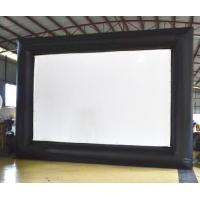 Wholesale Portable Giant Outdoor Inflatable Movie Screen 0.9 Mm PVC Tarpaulin + 420D Oxford from china suppliers