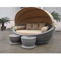 Wholesale Luxury Comfortable Roofed Cane Daybed , Wicker Garden Oval Daybed from china suppliers