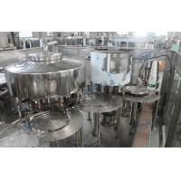 Quality Non - Carbonated Drink Automatic Filling Machine 1200bph Rotary 3 In 1 for sale