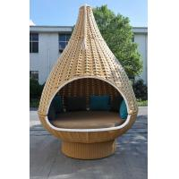 Quality Durable Discount Rattan Furniture 7PCS Rattan Hanging Chair / Daybed With Round Base for sale