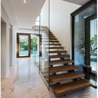 Wholesale Indoor prefabricated stairs wooden floating stairs from china suppliers