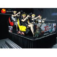 Quality Amusing Gun Shooting 7D Movie Theater Cabin Creative Entertainment With 3D Glasses for sale