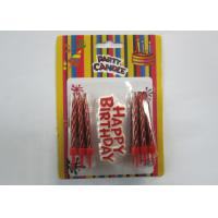 Wholesale Fashionable Gold Birthday Candles Shiny Red Happy Birthday Spiral Screw Candles from china suppliers