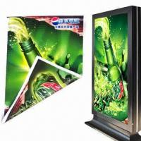 Backlit Flex Banner with Double-sided Prints in High Resolution, Measures 500D, Used for Light Box