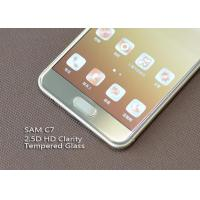 Wholesale Ashai Glass Cell Phone Screen Protectors , Samsung C7 Oleophobic Coating Screen Protection from china suppliers