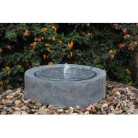 Quality Black Marble Cast Asian Water Fountains In Chinese Stone Mill Shape for sale