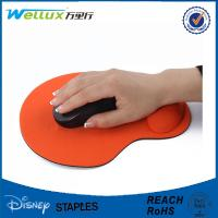 Wholesale Custom Rubber Mouse Pad With Wrist Support , Decorative Smooth PU GEL Mousepad from china suppliers