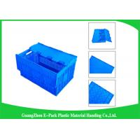 Wholesale Mesh Collapsible Plastic Containers with Attached Lids / Package Folding Plastic Crates from china suppliers