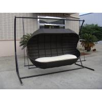 Wholesale Luxury Fashion 2 Seat Poly Rattan Swing Chair For Beach / Office from china suppliers