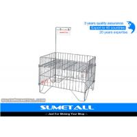 Wholesale Customized Color Steel Promotional Display Counter Wire Mesh Storage Baskets from china suppliers
