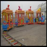 Quality Amusement Park Big Elephant Track Train Rides for Kids for sale