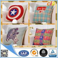 Wholesale Customized Washable Printed Canvas Sofa Cushion Pillow / Car Seat Cushion Covers from china suppliers