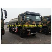 Wholesale Sinotruk howo oil tank truck / fuel tanker 25 cubic meters tank capacity 336 hp for military use from china suppliers