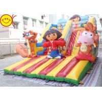 Wholesale Cartoon Theme Kids Bouncer Combo Inflatable Cartoon Bouncy Castle With Slide from china suppliers