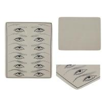 Wholesale Black / White Eyebrow Practice Sheets Durable For Microblading Tattoo from china suppliers