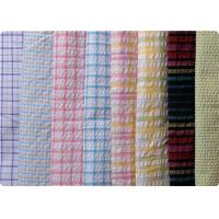 Wholesale 100% Cotton Yarn Dyed Latccice Plaid Seersucker Fabric For Garment from china suppliers