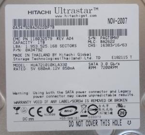 Wholesale CLARiiON CX - SA07-010 sata ii hard drive 1TB 7.2K 005048829 005048797 from china suppliers