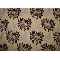 Wholesale Chrysanthemum Flocked Fabric , Flocked Damask Fabric Comfortable from china suppliers
