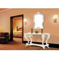 Wholesale Wooden Vintage White French Makeup Console Table With Framed Mirror from china suppliers