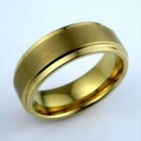 Wholesale Golden Tungsten Ring from china suppliers