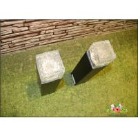 Wholesale Iron Ice Bollard Square Solar Outside Lights / Solar Powered Decking Lights from china suppliers