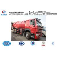 Buy cheap HOT SALE! Low price new products top level SINO TRUK HOWO 6*4 16,000Liters sewage vacuum cesspool trucks from wholesalers