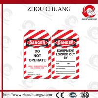 Quality New Design PVC Customized Standard  Tagout lable Used With Padlock for sale